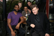 Demore Barnes, Bruce Langley, Omid Abtahi, Pablo Schreiber and Crispin Glover attend American Gods & Now Apocalypse Live Viewing Party At #TwitterHouse at Lustre Pearl on March 10, 2019 in Austin, Texas.