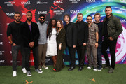 (L-R) Ricky Whittle, Demore Barnes, Mousa Kraish, Yetide Badaki, Emily Browning, Neil Gaiman, Crispin Glover, Omid Abtahi, Bruce Langley and Pablo Schreiber attend American Gods & Now Apocalypse Live Viewing Party At #TwitterHouse at Lustre Pearl on March 10, 2019 in Austin, Texas.