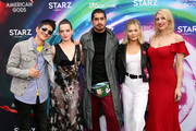 (L-R) Gregg Araki, Roxane Mesquida, Avan Jogia, Kelli Berglund and Karly Sorrentino attend American Gods & Now Apocalypse Live Viewing Party At #TwitterHouse at Lustre Pearl on March 10, 2019 in Austin, Texas.
