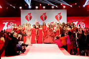 Models walk the runway for The American Heart Association's Go Red For Women Red Dress Collection 2019 Presented By Macy's at Hammerstein Ballroom on February 7, 2019 in New York City.