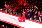 Skai Jackson walks the runway for The American Heart Association's Go Red For Women Red Dress Collection 2019 Presented By Macy's at Hammerstein Ballroom on February 7, 2019 in New York City.