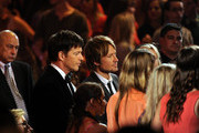 """American Idol Judges Harry Connick Jr., and Keith Urban onstage during Fox's """"American Idol"""" XIII Finale at Nokia Theatre L.A. Live on May 21, 2014 in Los Angeles, California."""