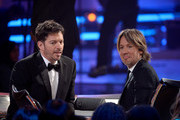 """Judges Harry Connick Jr. (L) and Keith Urban onstage during """"American Idol"""" XIV Grand Finale at Dolby Theatre on May 13, 2015 in Hollywood, California."""