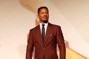 """Nate Parker walks the red carpet ahead of the """"American Skin"""" screening during the 76th Venice Film Festival at Sala Giardino on September 01, 2019 in Venice, Italy."""