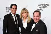 Nick Scandalios, Margo M Nederlander, and James L. Nederlander attend the American Theatre Wing Centennial Gala at Cipriani 42nd Street on September 24, 2018 in New York City.