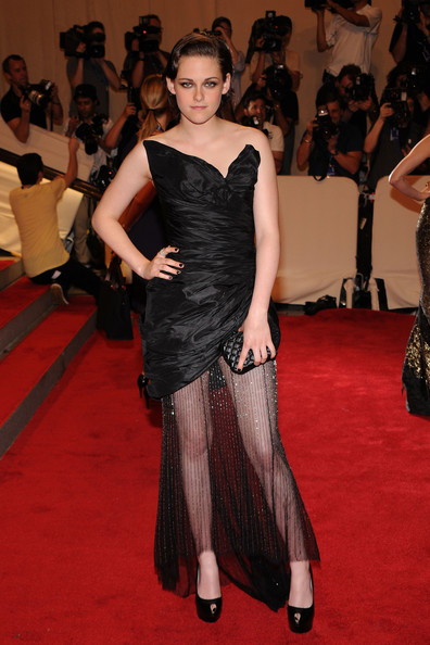 "Actress Kristen Stewart attends the Costume Institute Gala Benefit to celebrate the opening of the ""American Woman: Fashioning a National Identity"" exhibition at The Metropolitan Museum of Art on May 3, 2010 in New York City."