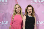 (L-R) Alexandra de Pfyffer and Caroline Scheufele attend the Amfar Gala At The Peninsula Hotel In Paris on June 30, 2019 in Paris, France.