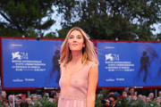 Martina Pinto walks the red carpet ahead of the 'Ammore E Malavita' screening during the 74th Venice Film Festival at Sala Grande on September 6, 2017 in Venice, Italy.