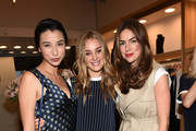 (L-R) Lily Kwong, Elizabeth Gilpin and Clairborne Swanson Frnak attend the Amour Vert x Swith Boutique celebration at Switch Boutique on March 26, 2015 in Beverly Hills, California.