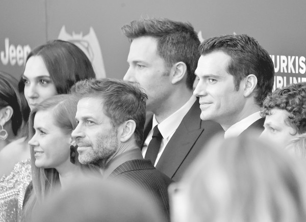 An Alternative View of the 'Batman V Superman: Dawn of Justice' New York Premiere [batman v superman: dawn of justice,image,photograph,people,white,facial expression,social group,black-and-white,event,monochrome photography,snapshot,monochrome,zack snyder,actors,gal gadot,alternative view,editors note,filters,new york,premiere]
