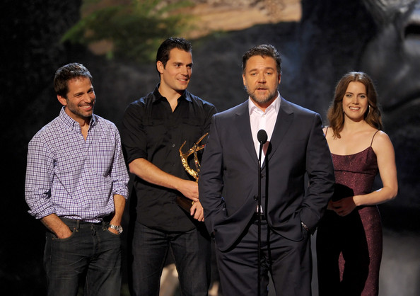Spike TV's 'Guys Choice' Show [event,suit,performance,formal wear,photography,zack snyder,actors,russell crowe,henry cavill,amy adams,l-r,spike tv,sony pictures studios,guys choice 2013,show]