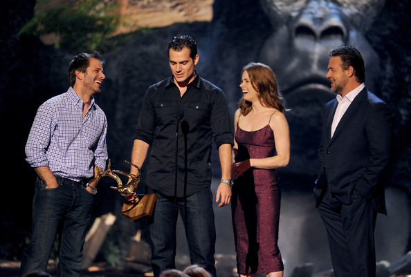 Spike TV's 'Guys Choice' Show [event,performance,movie,zack snyder,actors,amy adams,henry cavill,russell crowe,l-r,spike tv,sony pictures studios,guys choice 2013,show]