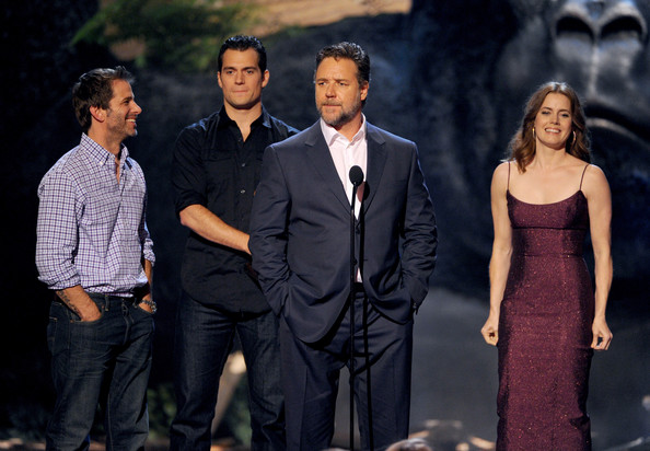 Spike TV's 'Guys Choice' Show [suit,event,fashion,formal wear,performance,dress,tuxedo,drama,acting,zack snyder,actors,russell crowe,amy adams,henry cavill,l-r,spike tv,sony pictures studios,guys choice 2013,show]