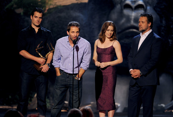 Spike TV's 'Guys Choice' Show [performance,event,musical,fashion,stage,performing arts,drama,talent show,acting,musical theatre,henry cavill,zack snyder,actors,amy adams,russell crowe,l-r,spike tv,sony pictures studios,guys choice 2013,show]