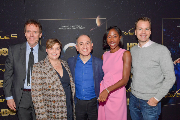 "Premiere Of HBO's ""Avenue 5"" - Red Carpet [event,premiere,performance,award,red carpet,hugh laurie,nikki amuka-bird,armando iannucci,amy gravitt,casey bloys,avenue 5,hbo,premiere,premiere,hugh laurie,nikki amuka-bird,avenue 5,hbo,photography,los angeles,image,photograph]"