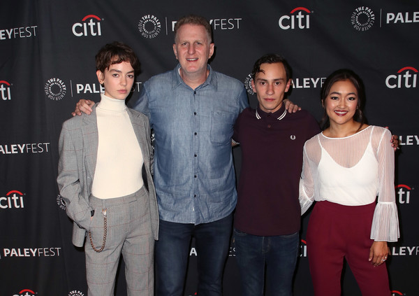 The Paley Center For Media's 2018 PaleyFest Fall TV Previews - Netflix - Arrivals [paleyfest fall tv previews,premiere,event,technology,arrivals,amy okuda,keir gilchrist,brigette lundy-paine,michael rapaport,l-r,atypical,netflix,paley center for media]