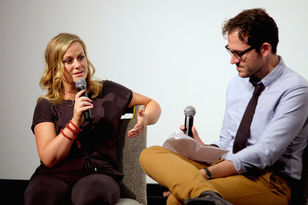 Vulture + Hulu's Screening Of 'Difficult People' [conversation,sitting,event,fun,photography,alcohol,difficult people,amy poehler,jesse david fox,actress,vulture,hulu,new york city,l,screening,screening]