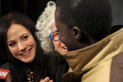 (L-R) Actress Mary Louise Parker, Founder and CEO of WWO, Dr. Jane Aronson and Okello Kelo Sam attend the Worldwide Orphans Foundation's Seventh Annual Benefit Gala hosted by Amy Poehler and Will Arnett held at Cipriani Wall Street on November 14, 2011 in New York City.
