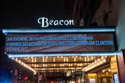 """A view of the Beacon marquee as Former President of the United States Bill Clinton with his wife, Former Secretary of State and presidential candidate Hillary Clinton attend """"An Evening With The Clintons"""" at Beacon Theatre on April 11, 2019 in New York City."""