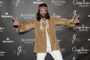 Rafael Amargo poses during a photocall for the Flower Power party at Club Carpe Diem on May 5, 2016 in Barcelona, Spain.