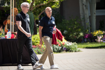 Anderson Cooper Annual Allen And Co. Meeting In Sun Valley Draws CEO's And Business Leaders To The Mountain Resort Town