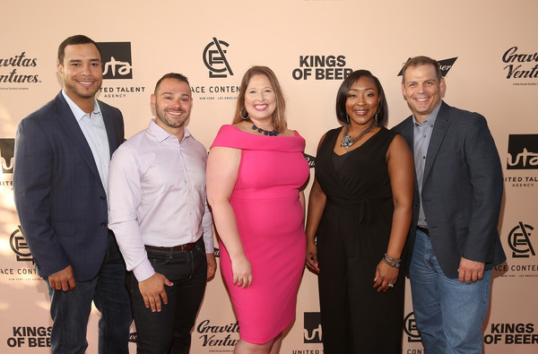 World Premiere Of 'KINGS OF BEER' In Beverly Hills [kings of beer,event,fashion,carpet,award,premiere,red carpet,dress,flooring,budweiser,jeff jones,summer anderson,eric carteciano,natalie johnson,ace content,united talent agency,gravitas ventures,world premiere]