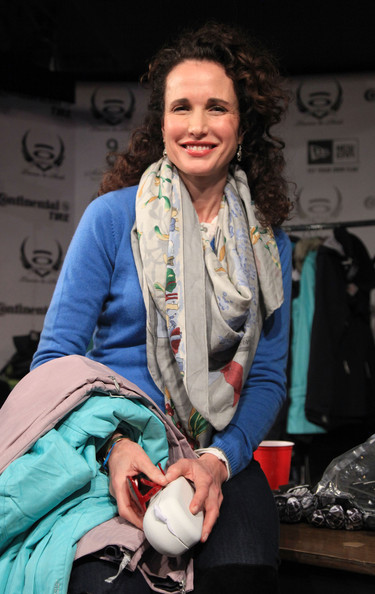 Andie MacDowell Actress Andie MacDowell attends the Oakley Learn to Ride Fueled by Muscle Milk on January 23, 2011 in Park City, Utah.