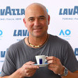 Andre Agassi Off Court At The 2019 Australian Open