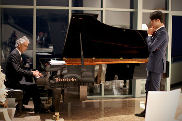 Andrea Bocelli Matteo Bocelli Alfred Mann Foundation's an Evening Under the Stars With Andrea Bocelli