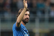 Andrea Pirlo greets the fans at the end of Andrea Pirlo Farewell Match at Stadio Giuseppe Meazza on May 21, 2018 in Milan, Italy.