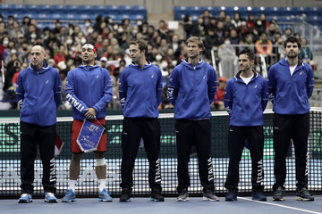 Andreas Seppi Japan v Italy - Davis Cup World Group 1st Round - Day 1