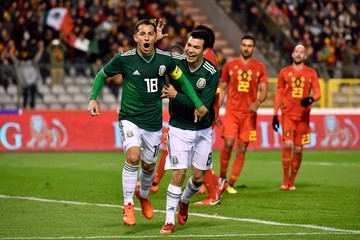 Andres Guardado Hirving Lozano Belgium v Mexico - International Friendly
