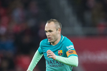 Andres Iniesta Athletic Club v Barcelona - Copa del Rey: Round of 16 First Leg