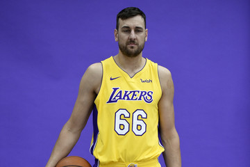 Andrew Bogut Los Angeles Lakers Media Day