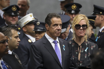 Andrew Cuomo Sandra Lee Anniversary Of September 11th Attacks On The U.S. Commemorated At World Trade Center Site