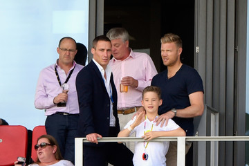 Andrew Flintoff England v South Africa - 4th Investec Test: Day Two