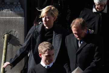 Andrew Upton Funeral Held for Philip Seymour Hoffman