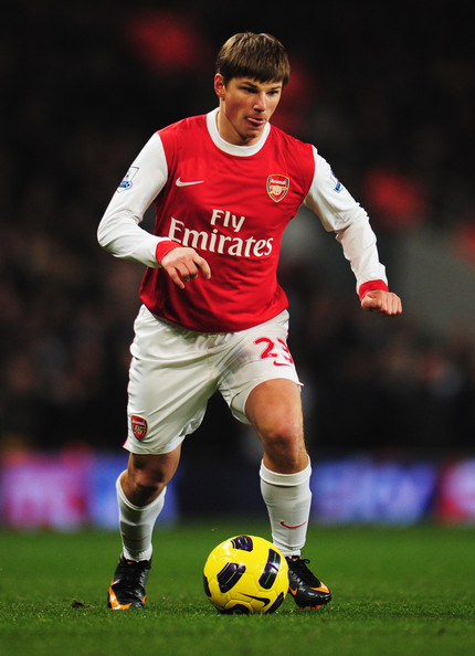 Andrey Arshavin Andrey Arshavin of Arsenal in action during the Barclays Premier League match between Arsenal and Manchester City at the Emirates Stadium on January 5, 2011 in London, England.