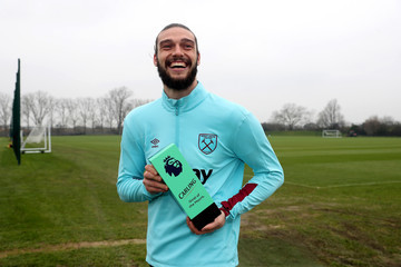 Andy Carroll Andy Carroll Receives the Premier League Goal of the Month Award