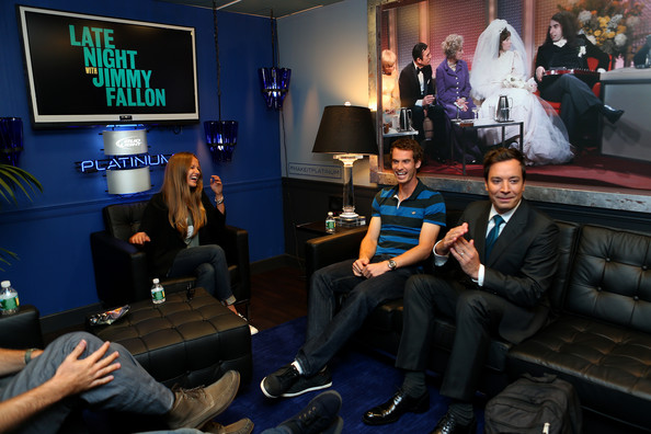 2012 US Open Champion Andy Murray - New York City Trophy Tour [late night with jimmy fallon,room,event,technology,games,gamer,leisure,television,media,andy murray,kim sears,jimmy fallon,new york city,great britain,2012 us open,trophy tour,final,trophy tour]