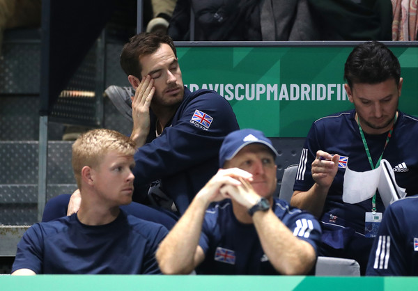 2019 Davis Cup - Day Six [team,games,sports,player,championship,competition event,interview,racquet sport,tennis,andy murray,davis cup,match,day six,spain,great britain,madrid,la caja magica]
