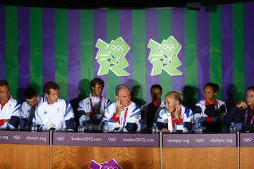 Andy Murray Heather Watson Olympics - Previews - Day - 2