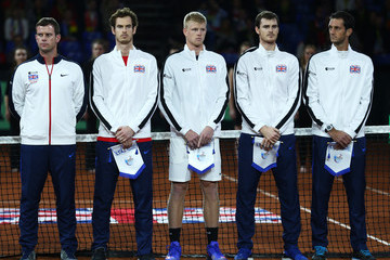 Andy Murray James Ward Belgium v Great Britain: Davis Cup Final 2015 - Day One