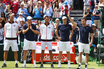 Andy Murray James Ward Great Britain v France - Davis Cup: Day Two