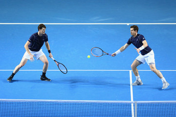 Andy Murray Jamie Murray Great Britain v Japan - Davis Cup: Day Two