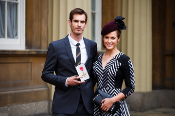 Andy Murray Kim Sears Investitures Held at Buckingham Palace