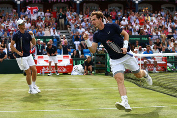 Andy Murray Great Britain v France - Davis Cup: Day Two