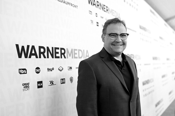 WarnerMedia Upfront 2019 - Arrivals [image,conan,text,white-collar worker,font,businessperson,black-and-white,photography,suit,brand,eyewear,business,arrivals,arrivals,andy richter,tbs\u00e2,red carpet,new york city,the theater at madison square garden,warnermedia]