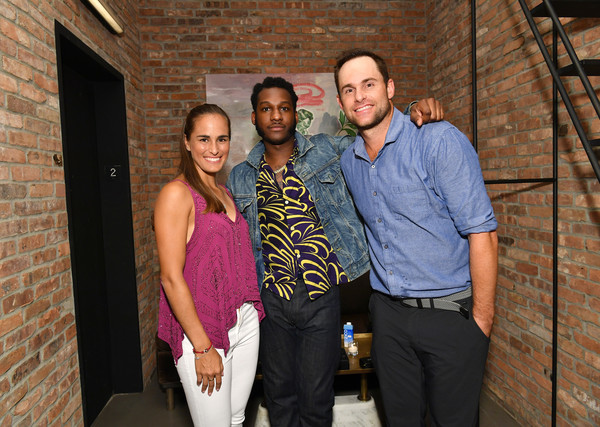 Andy Roddick, Monica Puig, And Leon Bridges At 'Legends, Unmatched' Event [leon bridges excite the crowd with an epic table tennis match and performance,people,social group,event,fun,vacation,smile,family,andy roddick,monica puig,crowd,legends,leon bridges,ihg hotels resorts ``legends unmatched,kimpton hotel eventi,event,event]