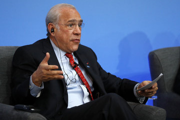 Angel Gurria Prime Minister David Cameron Hosts Anti-Corruption Summit